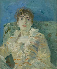 Girl on a Divan | Berthe Morisot | Painting Reproduction