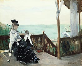 In a Villa at the Seaside, 1874 by Berthe Morisot | Painting Reproduction