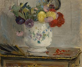 Dahlias, 1876 by Berthe Morisot | Painting Reproduction