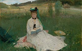 Reading, 1873 by Berthe Morisot | Painting Reproduction
