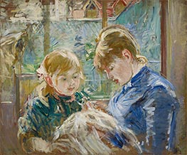 The Artist's Daughter, Julie, with her Nanny, c.1884 by Berthe Morisot | Painting Reproduction