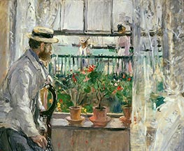 Eugene Manet on the Isle of Wight, 1875 by Berthe Morisot | Painting Reproduction