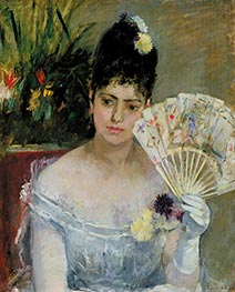 At the Bal, 1875 by Berthe Morisot | Painting Reproduction
