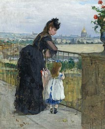 Woman and Child on a Balcony | Berthe Morisot | Painting Reproduction