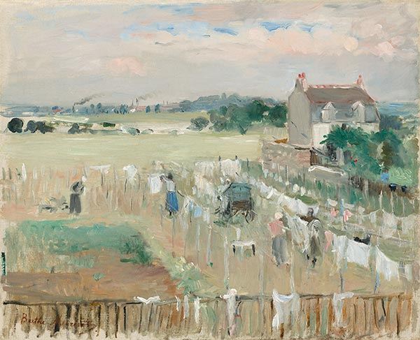 Hanging the Laundry out to Dry, 1875 | Berthe Morisot | Painting Reproduction