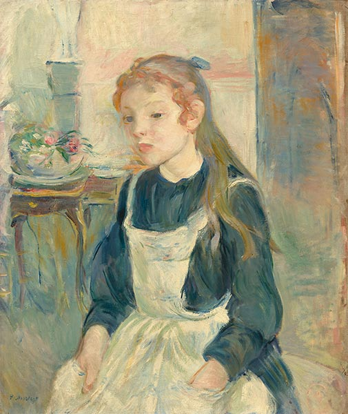 Young Girl with an Apron, 1891 | Berthe Morisot | Painting Reproduction