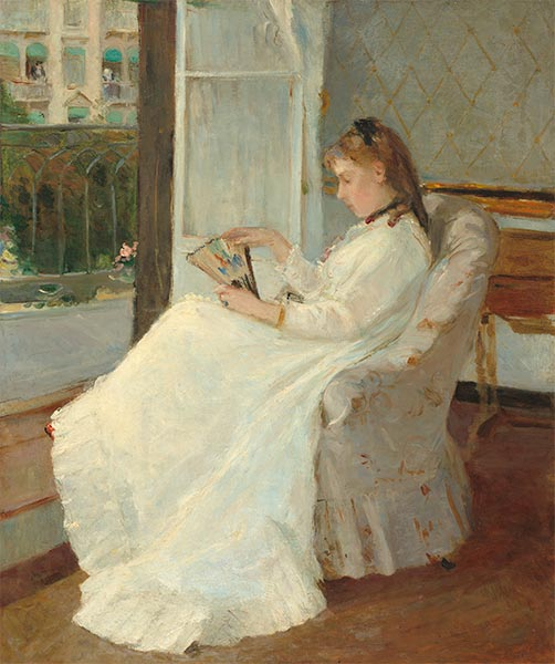 The Artist's Sister at a Window, 1869 | Berthe Morisot | Painting Reproduction
