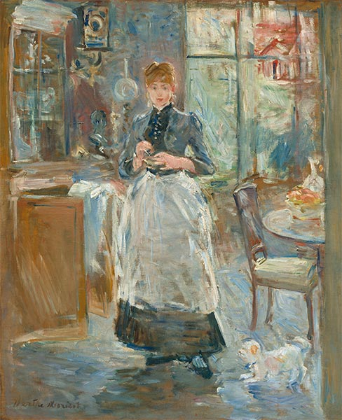 In the Dining Room, 1886 | Berthe Morisot | Painting Reproduction