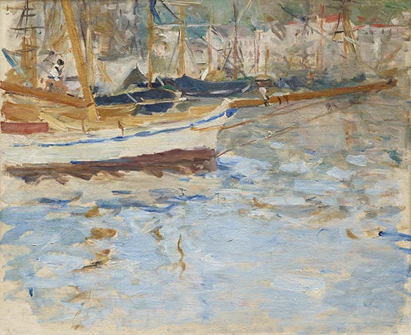 The Port of Nice, c.1881/82 | Berthe Morisot | Painting Reproduction