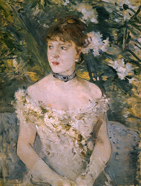 Young Girl in a Ball Gown, c.1879 | Berthe Morisot | Painting Reproduction