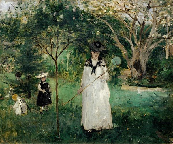 Butterfly Hunt, c.1874   Berthe Morisot   Painting Reproduction