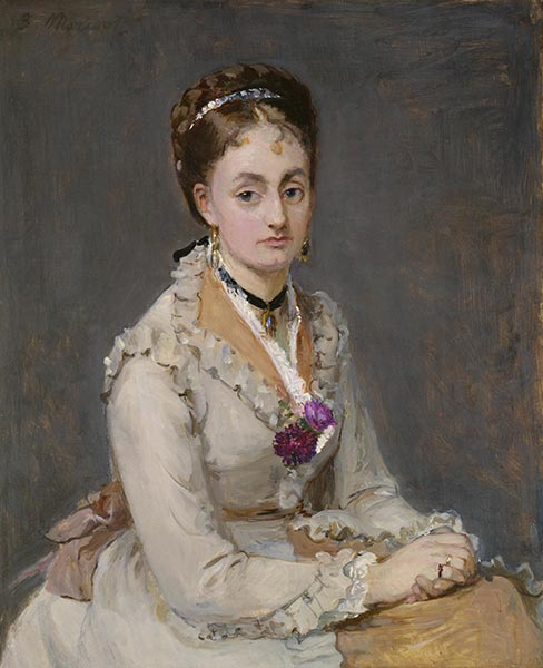 Portrait of a Woman, c.1872/75 | Berthe Morisot | Painting Reproduction