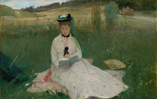 Reading, 1873 | Berthe Morisot | Painting Reproduction
