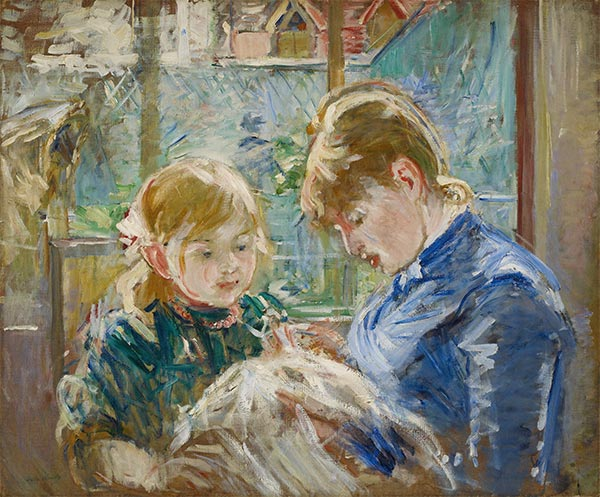 The Artist's Daughter, Julie, with her Nanny, c.1884 | Berthe Morisot | Painting Reproduction
