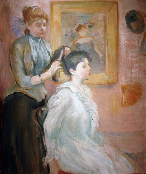The Hairstyle, 1894 | Berthe Morisot | Painting Reproduction