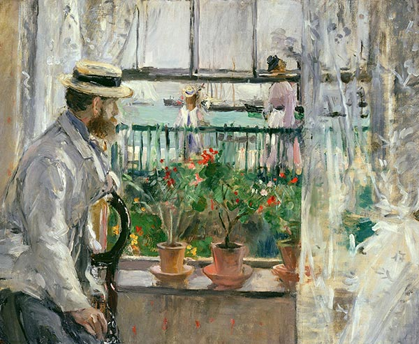Eugene Manet on the Isle of Wight, 1875 | Berthe Morisot | Painting Reproduction