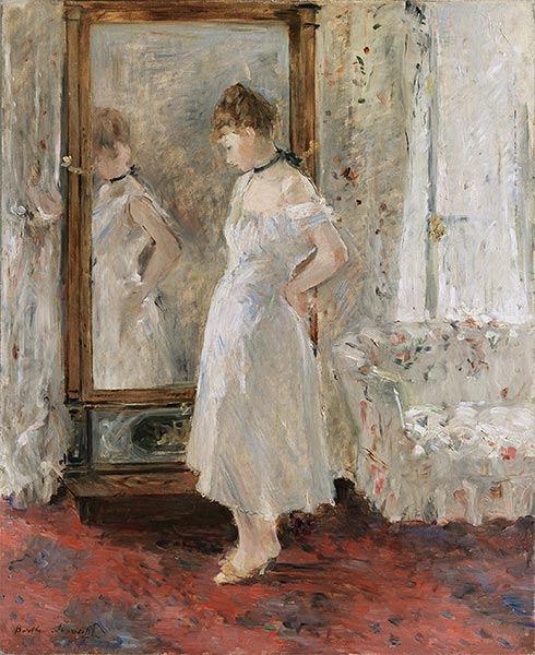 The Psyche Mirror, 1876 | Berthe Morisot | Painting Reproduction