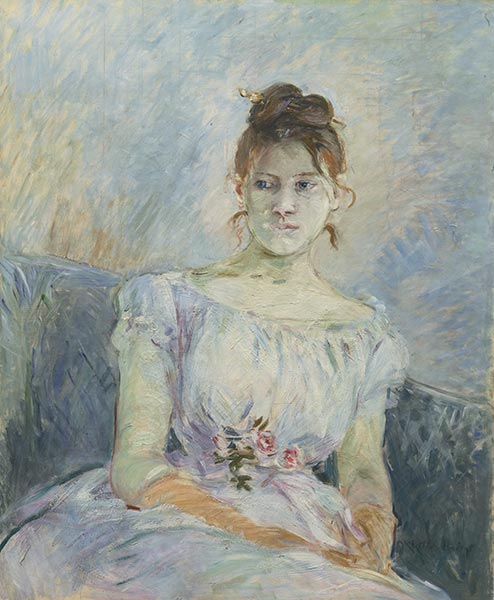 Paule Gobillard in a Ball Gown, 1887 | Berthe Morisot | Painting Reproduction