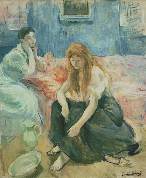 Two Girls, c.1894 | Berthe Morisot | Painting Reproduction