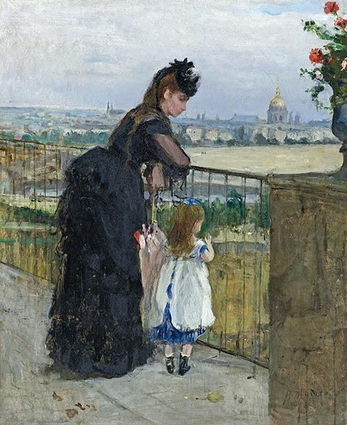 Woman and Child on a Balcony, 1872 | Berthe Morisot | Painting Reproduction