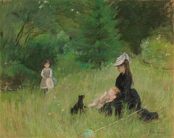 In the Park, c.1874 | Berthe Morisot | Painting Reproduction