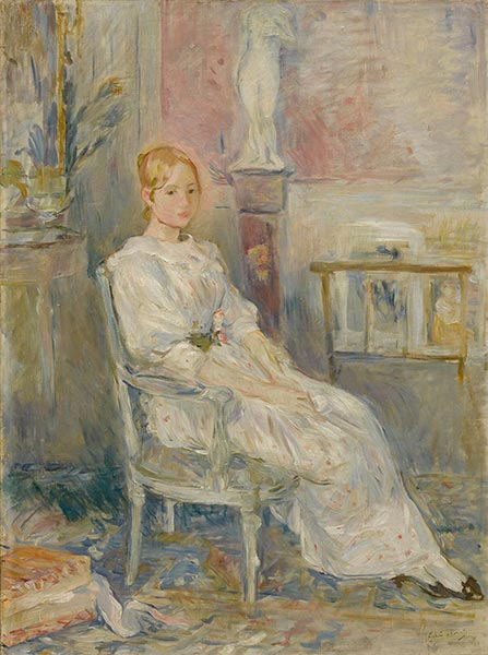 Alice Gamby in the Living Room, 1890 | Berthe Morisot | Painting Reproduction