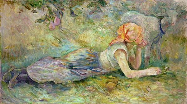 Shepherdess Resting, 1891 | Berthe Morisot | Painting Reproduction