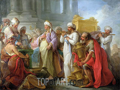Solomon Before the Ark of the Covenant, 1747 | Blaise Le Sueur | Painting Reproduction
