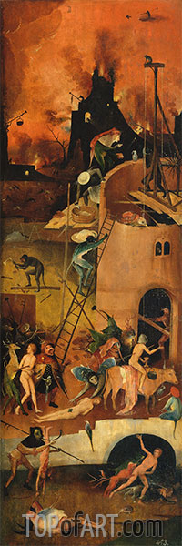 The Haywain Triptych (Right Panel), c.1512/15 | Hieronymus Bosch | Painting Reproduction