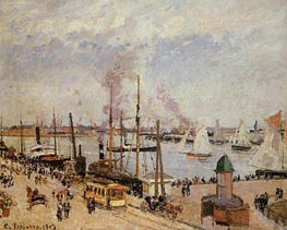 The Port of Le Havre - High Tide | Pissarro | Painting Reproduction