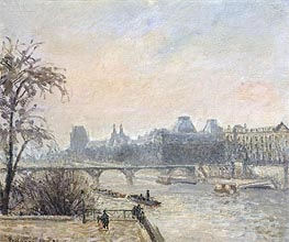 The Seine and the Louvre, Paris, 1903 von Pissarro | Gemälde-Reproduktion