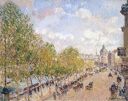 Quai Malaquais, Sunny Afternoon | Pissarro | Painting Reproduction
