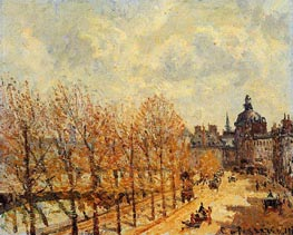 Quay Malaquais, Morning, Sunny Weather | Pissarro | Painting Reproduction