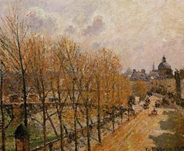 Quai Malaquais - Morning, Sun | Pissarro | Painting Reproduction