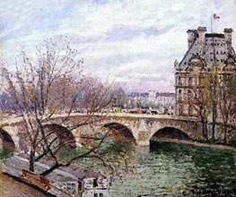 The Pont Royal and the Pavillon de Flore | Pissarro | Gemälde Reproduktion