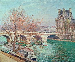 The Pont Royal and the Pavillon de Flore, 1903 von Pissarro | Gemälde-Reproduktion