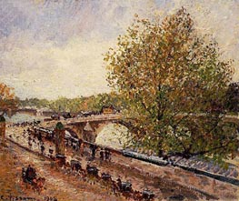 The Pont Royal - Grey Weather, Afternoon, Spring | Pissarro | Painting Reproduction