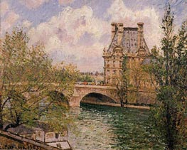The Pavillon de Flore and the Pont Royal | Pissarro | Painting Reproduction