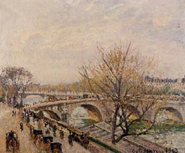 The Seine at Paris, Pont Royal | Pissarro | Painting Reproduction
