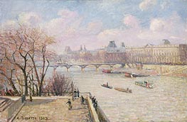 The Raised Terrace of the Pont-Neuf, 1902 by Pissarro | Painting Reproduction