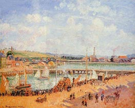 The Port of Dieppe, the Duquesne and Berrigny... | Pissarro | Painting Reproduction