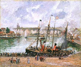 Harbor at Dieppe, 1902 by Pissarro | Painting Reproduction