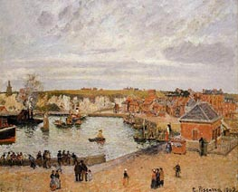 The Port of Dieppe, 1902 by Pissarro | Painting Reproduction