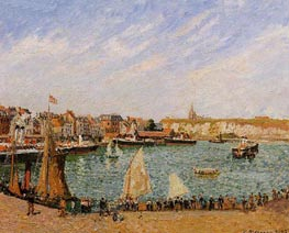 Afternoon, Sun, the Inner Harbor, Dieppe | Pissarro | Painting Reproduction