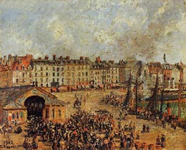 The Fishmarket, Dieppe, 1902 by Pissarro | Painting Reproduction