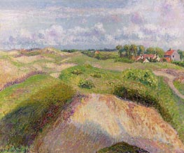The Dunes at Knocke, Belgium, 1894 by Pissarro | Painting Reproduction