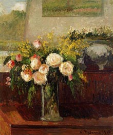 Roses of Nice, 1902 by Pissarro | Painting Reproduction
