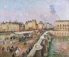 Afternoon Sunshine, Pont Neuf, 1901 by Pissarro | Painting Reproduction