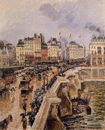The Pont-Neuf, Rainy Afternoon, 1901 by Pissarro | Painting Reproduction