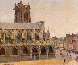 The Church of Saint-Jacques, Dieppe, 1901 by Pissarro | Painting Reproduction